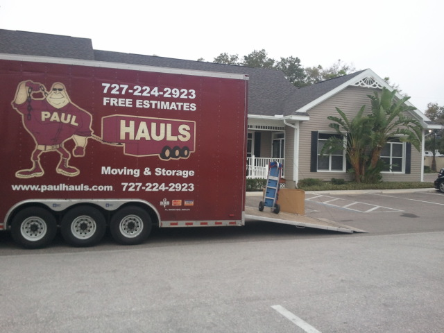 Our movers on location in Clearwater Florida