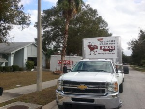 Unloading PODS in Safety Harbor