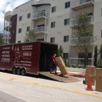 Tampa Movers In Channelside Unloading Moving Boxes