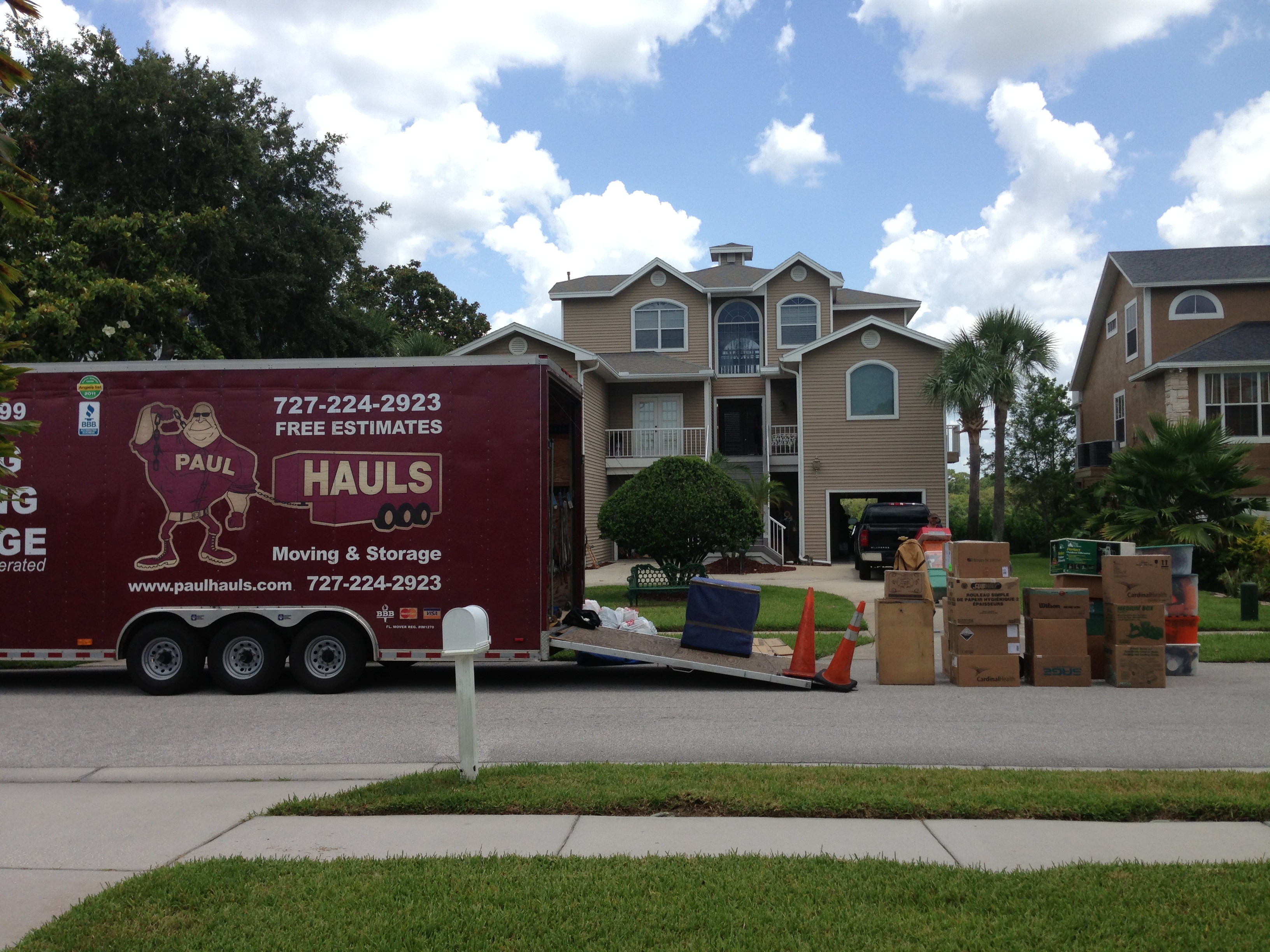 Tarpon Movers On Location | Paul Hauls Moving And Storage