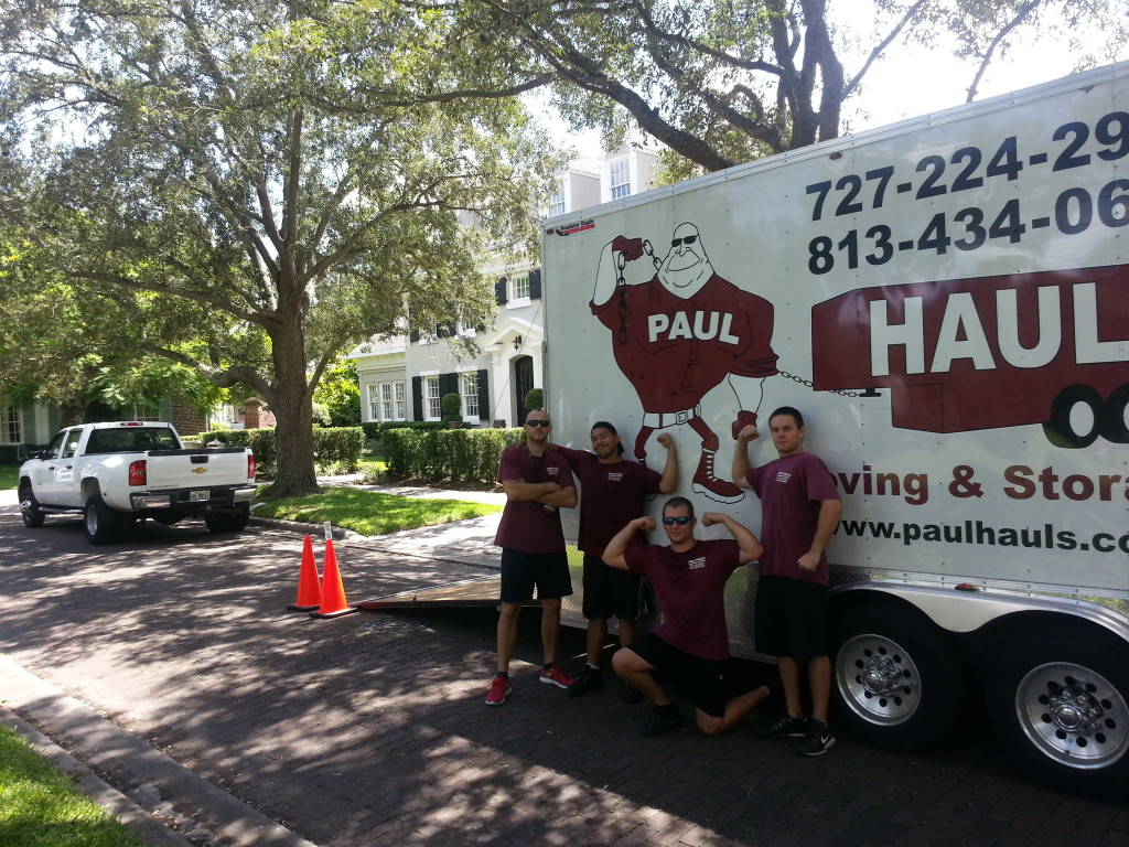 Fast And Friendly Movers Flexing For The Camera In Tampa, Fl.