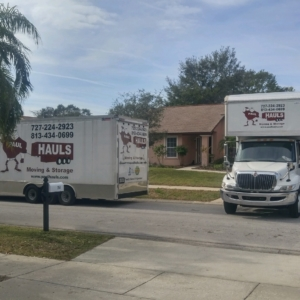 two trucks for residential moving in clearwater florida January 2018