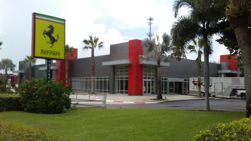 moving palm harbor ferrari dealership