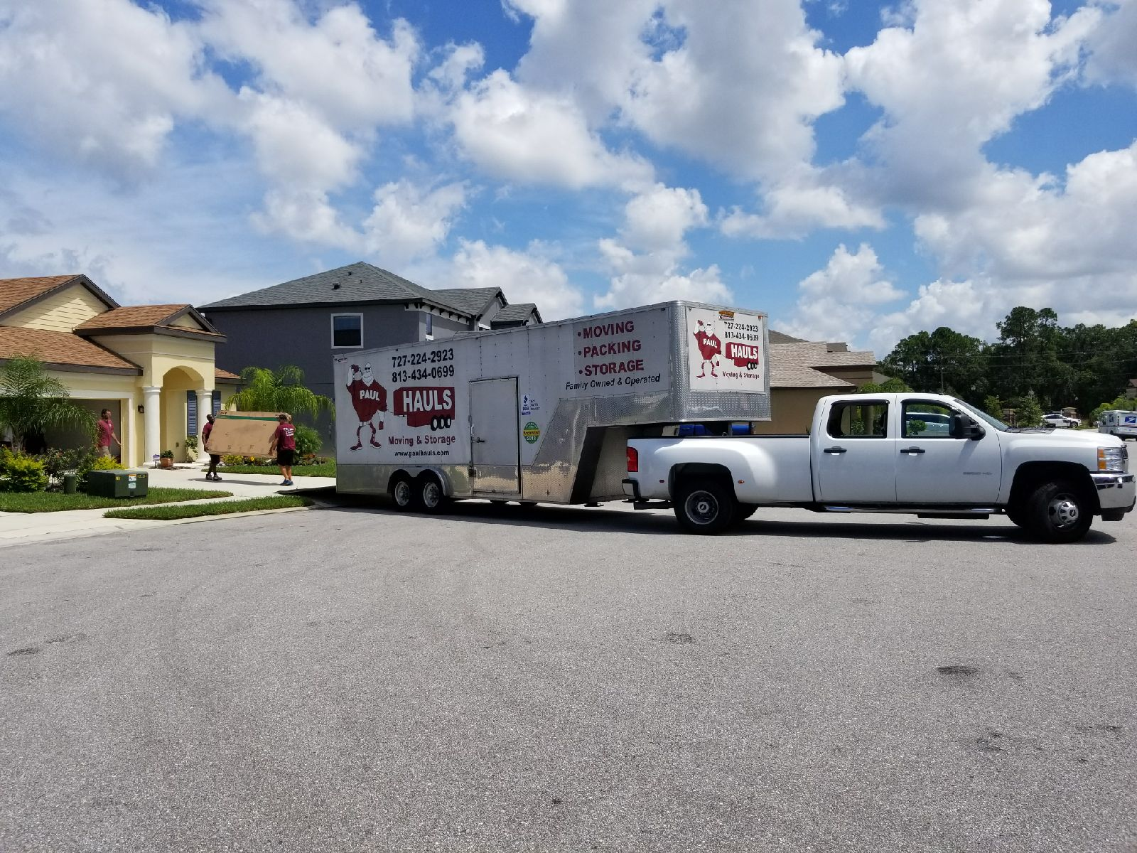 Loading up the truck in Westchase Florida